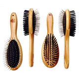 Natural Bamboo Eco Friendly Pet Grooming Dual Sided Pin and Bristle Hair Brush - Eco Trade Company