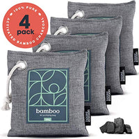Bamboo Charcoal Air Purifying Bag 4-Pack – Naturally Freshen Air with Powerful Activated Charcoal, Made in USA - Eco Trade Company