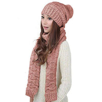 Gift Set - Eco friendly Winter Warm Knitted Beanie Scarf Set - Eco Trade Company