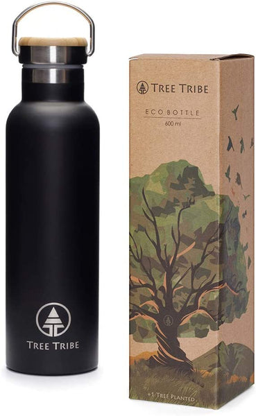 Stainless Steel Water Bottle 20 oz. Insulated, Indestructible, Eco Friendly - Eco Trade Company