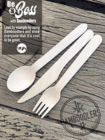 Disposable Wooden Cutlery Set | 100% All-Natural, Eco-Friendly, Biodegradable - Eco Trade Company