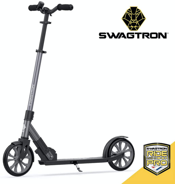 Commuter Kick Scooter for Adults, Teens | Foldable, Lightweight w/ABEC-9 Wheel Bearings | Height-Adjustable, 220LB Max Load