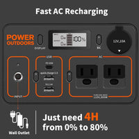 Jackery Portable Power Station Explorer 300, 293Wh Backup Lithium Battery, 110V/300W Pure Sine Wave AC Outlet - Eco Trade Company