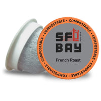 SF Bay Coffee French Roast Dark Roast Compostable Coffee Pods, K Cup Compatible including Keurig 2.0 (Packaging May Vary) - Eco Trade Company