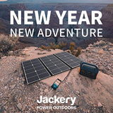 Jackery SolarSaga 60W Solar Panel for Explorer 160/240/500 and HLS290 as Portable Solar Generator, Portable Foldable Solar Charger for Summer Camping - Eco Trade Company