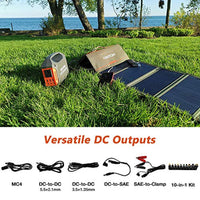 Portable Solar Charger – 60W Foldable Solar Panel with 5V USB and 18V DC for iPhone etc. 5-18V Devices Compatible with Solar Generators Power Stations - Eco Trade Company