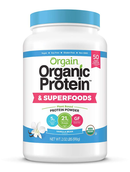 Orgain Organic Plant Based Protein + Superfoods Powder, Non Dairy, Lactose Free, No Sugar Added, Gluten Free, Soy Free, Non-GMO, 2.02 lb - Eco Trade Company