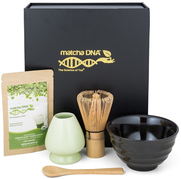 Matcha Tea Gift Set - Matcha Tea Ceremony Set by Matcha DNA (Black Matcha Gift Set) - Eco Trade Company