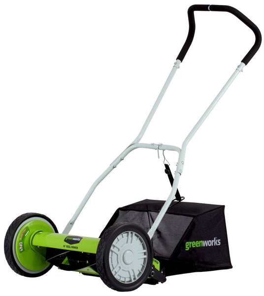Greenworks Push Reel Lawn Mower with Grass Catcher - Eco Trade Company
