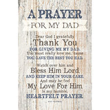 Dad (Father) Prayer Wood Plaque with Inspiring Quotes - Eco Trade Company