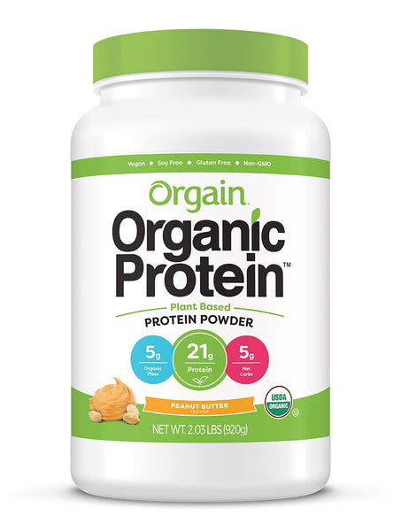 Orgain Organic Plant Based Protein Powder, Peanut Butter - Eco Trade Company