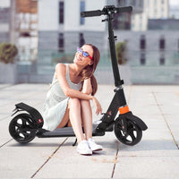 Kids Adult Scooter with 3 Seconds Easy Folding System 220lb Adjustable with Rear Brake and 200mm Large Wheels
