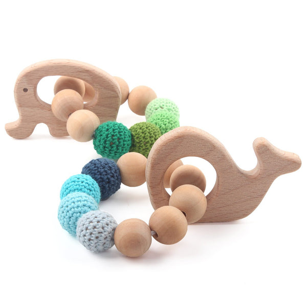 2 PCS Bracelet Eco-Friendly Wooden Teether - Eco Trade Company