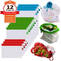 Reusable Mesh Produce Bags Premium Sets - Eco Trade Company