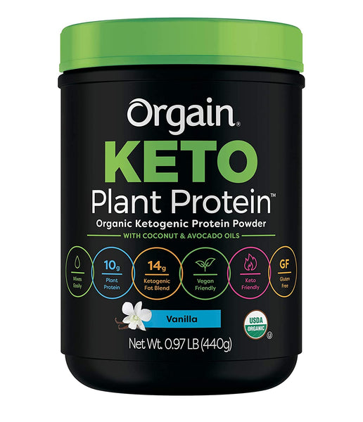 Orgain Keto Plant-Based Protein Powder, Chocolate- Keto Friendly, Organic, Vegan, Gluten Free, Organic Prebiotic Fiber, 0.97 Pound - Eco Trade Company