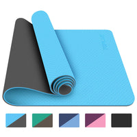Yoga Mat - Eco-Friendly Non-Slip Fitness Exercise Mat with Carrying Strap-for Yoga, Pilates and Floor Exercises - Eco Trade Company