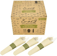 Earth's Natural Alternative Wheat Straw Sugarcane Fiber Grab & Go Eco Picnic Pack - Eco Trade Company