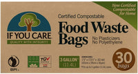 Certified Compostable Food Waste Bags, 3 gal, 30 Count - Eco Trade Company