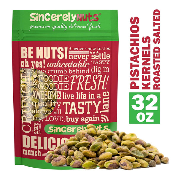 Sincerely Nuts Pistachios Roasted and Salted Kernels - Meats - No Shell - Eco Trade Company