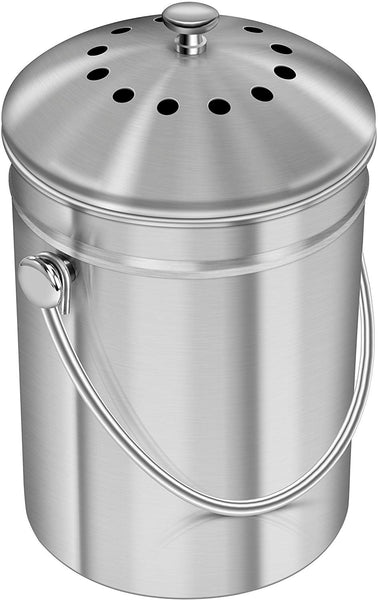 Utopia Kitchen Stainless Steel Compost Bin for Kitchen Countertop - Eco Trade Company