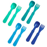 8pk Toddler Feeding Utensils Spoon and Fork Set | Eco-Friendly Recycled Milk Jugs, Made in USA - Eco Trade Company