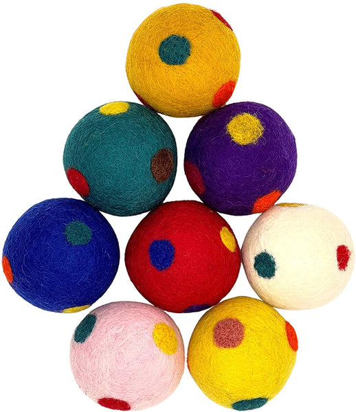 Wool Ball Cat Toys, Eco Friendly Safe for Cats, Ferrets and Small Dogs - Eco Trade Company