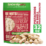 Sincerely Nuts Large Pistachios Roasted & Unsalted in Shell - Eco Trade Company