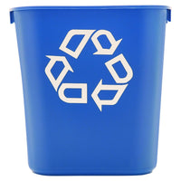 Rubbermaid Commercial Products Plastic Resin Deskside Recycling Can - Eco Trade Company