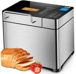 KBS Pro Stainless Steel Bread Machine, 2LB 17-in-1 Programmable XL Bread Maker with Fruit Nut Dispenser - Eco Trade Company