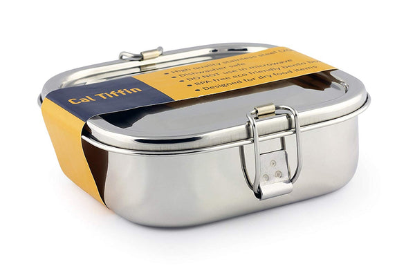 Stainless Steel SQUARE Bento Box Food Container - Eco friendly, Dishwasher Safe, BPA Free - Eco Trade Company