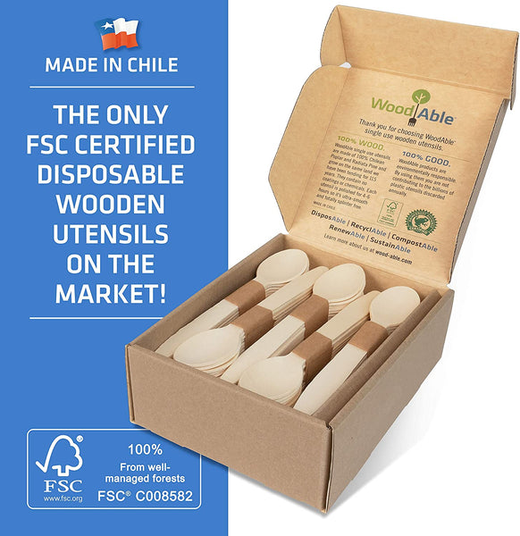 Disposable Wooden Forks, Spoons, Knives - Alternative to Plastic Cutlery - Eco Biodegradable - Eco Trade Company