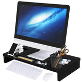 Monitor Stand Riser with Storage Organizer Bamboo Wood - Eco Trade Company