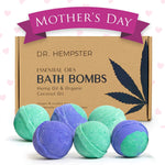 Bath Bombs Essential-Oil Vegan Gift-Set – Scented, with lots of Lush Fizzle, (6 Pack) 4 oz - Eco Trade Company