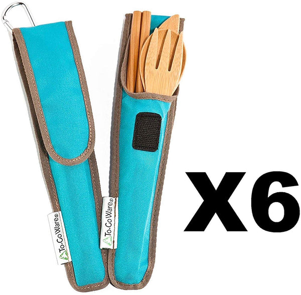 Bamboo Travel Utensils - To-Go Ware Utensil Set with Carrying Case - Eco Trade Company