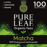 Pure Leaf 100% Organic Matcha Green Tea Powder for Green Tea Matcha Latte, Matcha baking recipes, Green Tea Smoothies - Eco Trade Company