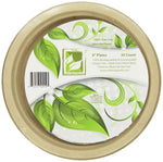 "Earth's Natural Alternative Eco-Friendly, Compostable Plant Fiber 9"" Plate - Eco Trade Company"
