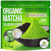 Kiss Me Organics Matcha Green Tea Powder - Organic Japanese Culinary Grade Matcha - Eco Trade Company