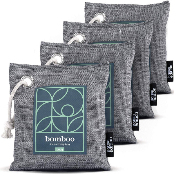 Bamboo Charcoal Air Purifying Bag 4-Pack Naturally Freshen Air with Powerful Activated Charcoal - Eco Trade Company