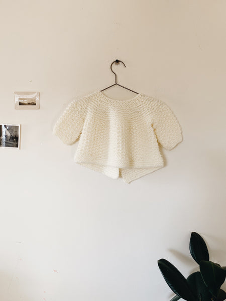 Hand Knit Sweater- Size 0-3M