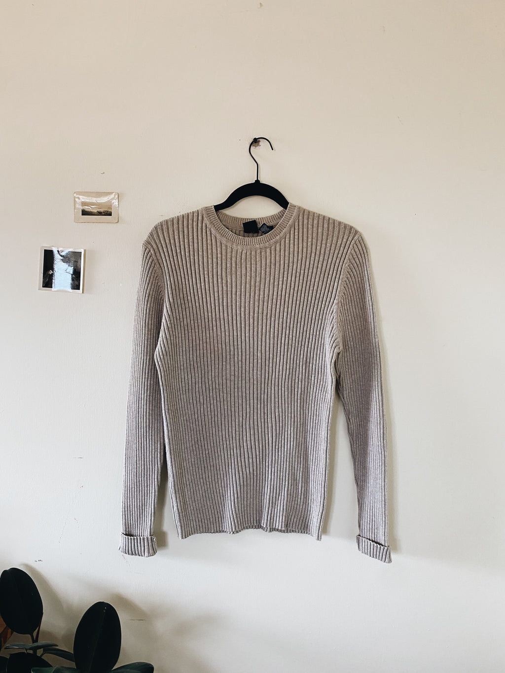 Vintage Ribbed Sweater- Size S/M