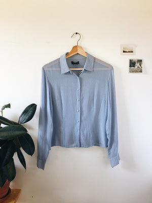 Silk Button Down- Size 8