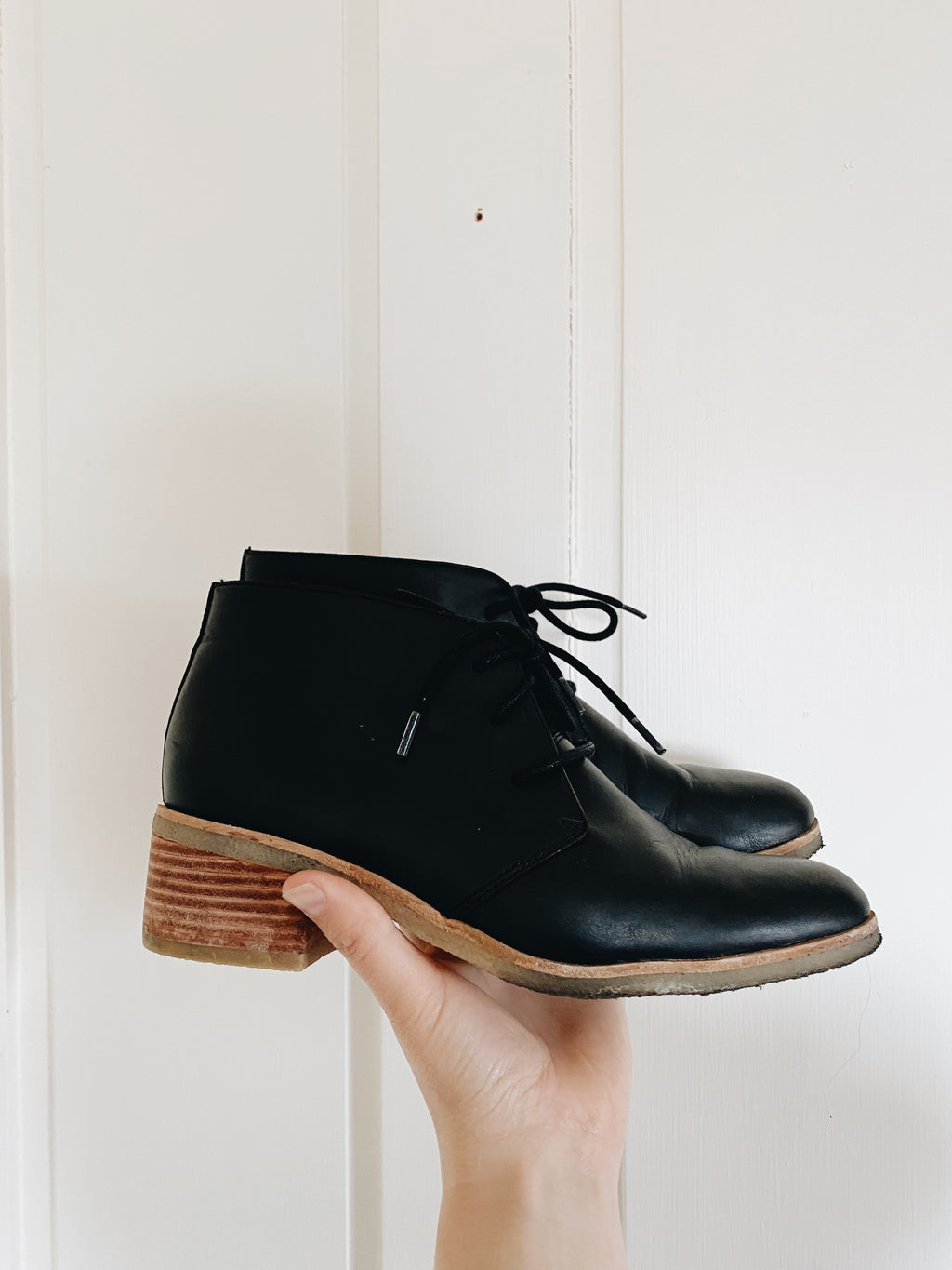 Clark Leather Ankle Boots- Size 9