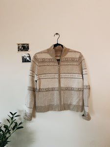 Light Weight Cream Cardigan- Size PM