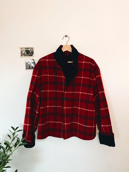 Reversible- Red and Black Coat Size XL