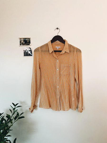 Vintage Gingham Button Down- Size XS