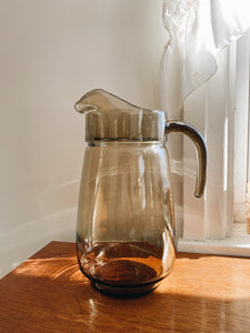Vintage Brown Glass Pitcher