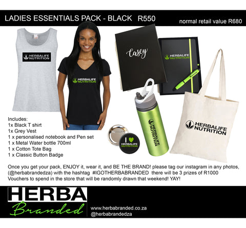 Ladies Essentials pack