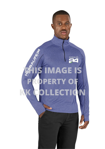 Mens Premium Sports fabric Long sleeve top with earphone guide