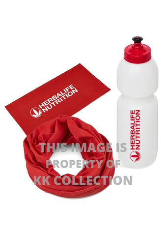 On the Go Pack Red Buff & Bottle