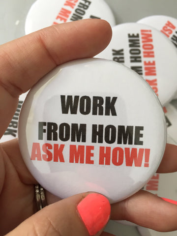 Work from home button single item